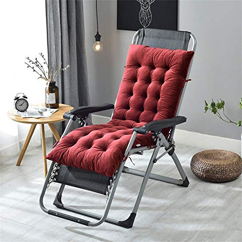 ZHANGYY Cojines para Silla Mecedora Espesan, con Lazos Cojín para Tumbona Cojín Universal para Asiento Cojines acogedores para sillas de jardín Patio Interior-Azul 160x50x10cm
