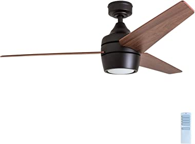 """Honeywell Ceiling Fans 50603 Eamon Modern Ceiling Fan with Remote Control, 52"""", Bronze"""