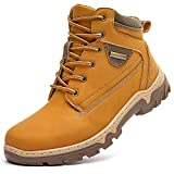 hash bubbie Women Mid Hiking Boots Outdoor Waterproof Non Slip Backpacking Trekking Walking Trails(Apricot.US9)