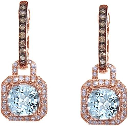 Aquamarin Weiß Tropfen-Ohrringe 14Karat 585 ißold Diamant