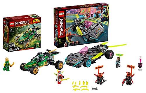 Lego NINJAGO-Set: 71700 Legacy Lloyds Dschungelräuber Auto mit Minifigur Lloyd + 71710 Ninja-Tuning-Fahrzeug mit Spreizklingen, ab 8 Jahren