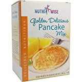 NutriWise - Golden Delicious Pancake Mix | High Protein, Low Carb, Low Fat, Low Calorie, Weight Loss (7/Box)