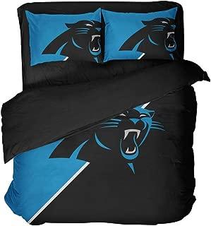 Football Carolina Bedding Set Modern Carolina City Pattern Printed Cotton Fabric Bed Set (Twin (3pcs))