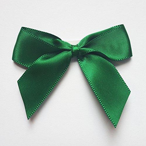 Italian Options Lot de 12 nœuds en satin auto-adhésifs Vert bouteille 5 cm