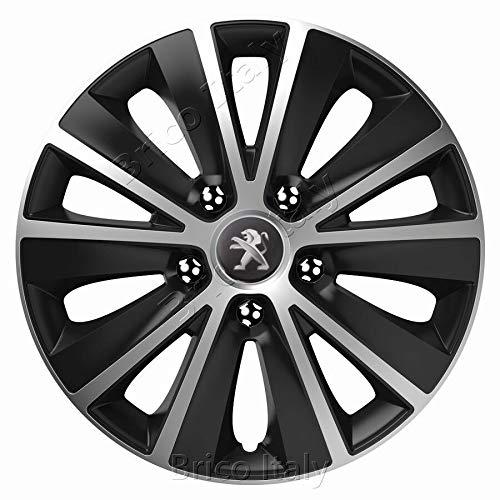 Rapide 16 Logo Peugeot Motorfietsaccessoireset 4 wieldoppen