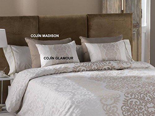 Tejidos JVR - Cojín Glamour 30x50 cm - Color Oro con Relleno