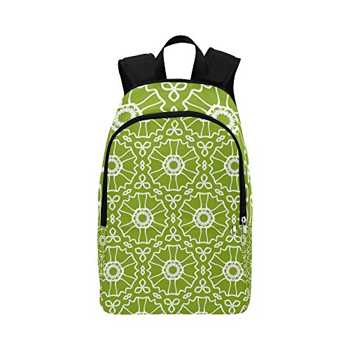 ZXWXNLA Casual Everyday Bag Colorful Ethnic Abstract Style Durable Water Resistant Classic Large Bookbag for Women Travel Bag for Kids Best Daypack Cooler Bookbag