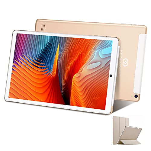 Tablet 10 Pollici con Wifi Offerte 4G Android 10.1 Certificato Google GMS 3GB RAM 32GB 128GB Tablet PC in Offerta 8000mAh Dual SIM 8MP Camera Tablet Android Offerta Del Giorno con Netflix(Oro)