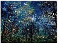 新しい神秘的な森の自然の星天体パズル1000ピース木製大人のジグソーパズル色子供のための抽象絵画パズル教育玩具ギフト