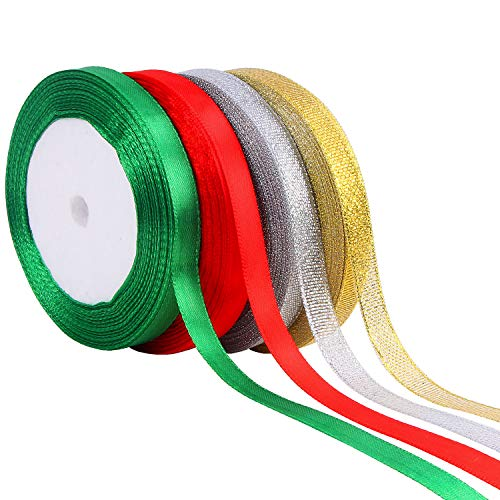 Satin Ribbons, 4 Colors