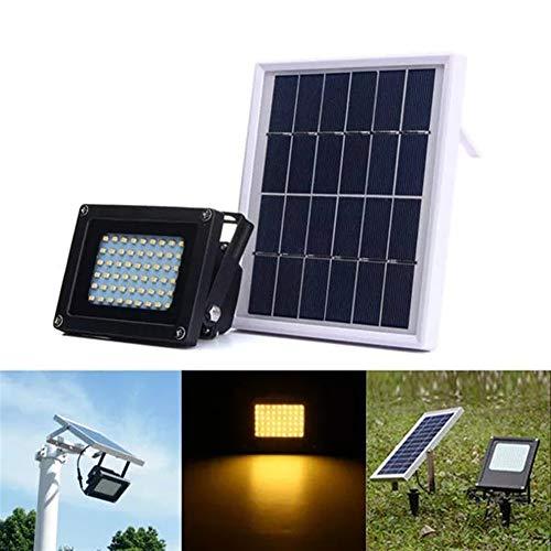 L.J.JZDY Solarleuchten 54 Licht Solar Powered Sensor Warm White Flutlicht im Freien Wasserdichten IP65 Garten Sicherheit Lampe Licht-Licht