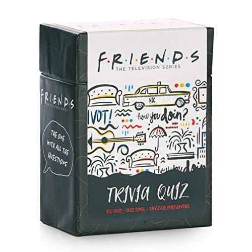 Paladone Friends TV Show Trivia Quiz Cards with Easy and Hard Questions
