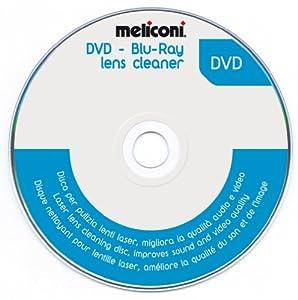 Meliconi 621012 - Disco limpiador para lentes láser de reproductores de DVD