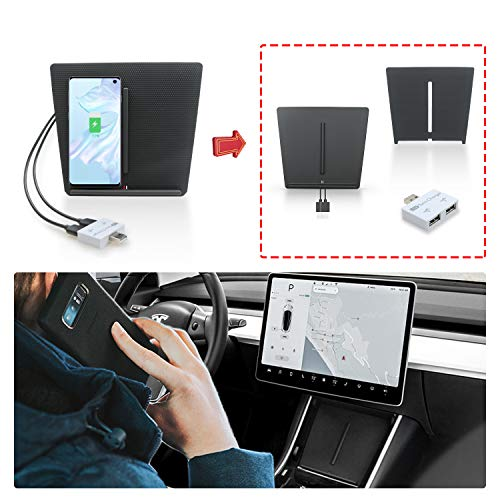 RUIYA Model 3 Draadloze Oplader Wireless Charger Updates van Accessoires Speciaal Laadbord voor Auto-paneel Draadloze Oplader voor Auto-accu's