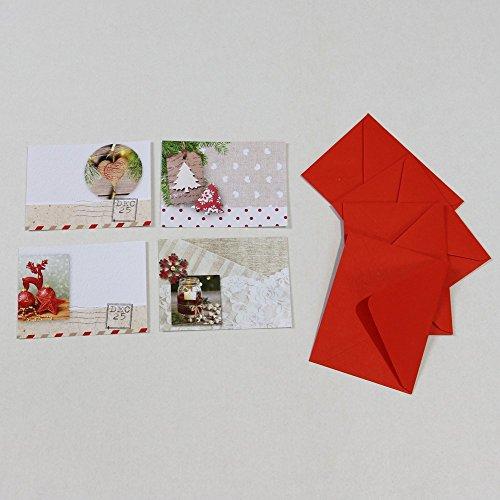 Set von 20Karten Weihnachtskarte sortiert (5Stück x 4Modelle)