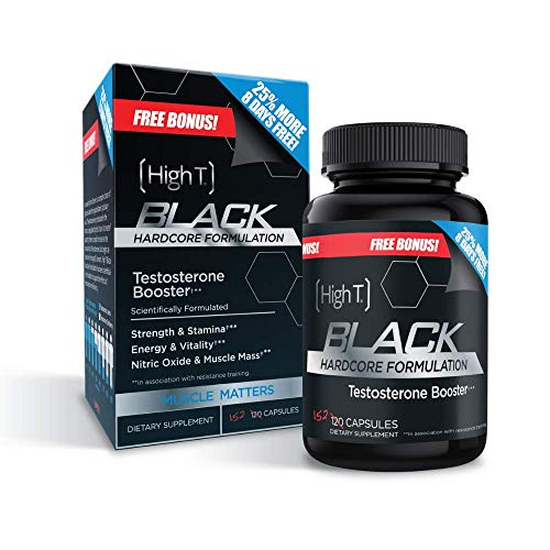 High T Black - Best All Natural Testosterone Booster - Energy Booster - Bonus Size 152 ct