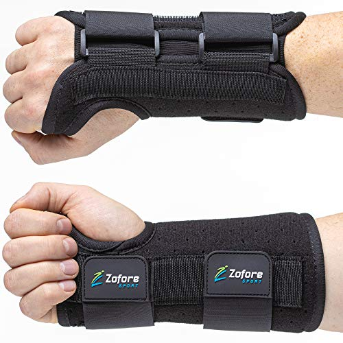 Carpal Tunnel Wrist Brace Support with 2 Straps and Metal Splint Stabilizer...