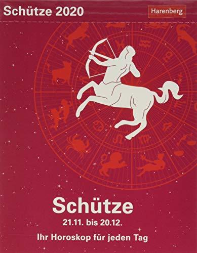 Schütze Sternzeichenkalender. Tischkalender 2020. Tageskalendarium. Blockkalender. Format 11 x 14 cm