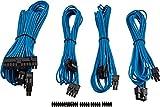 Corsair Internal Black Power Cable Starter-Set, Male/Male, RMi Series, RMX Series, SF Series, Type 4 PSU, Blu