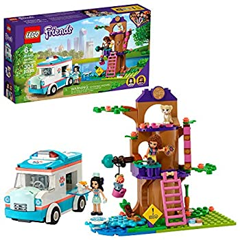 LEGO Friends Vet Clinic Ambulance 41445 Building Kit  Collectible Toy with Ambulance Rabbit and Kitten Toys Children's Vet Kit and Olivia and Emma Mini-Dolls New 2021  304 Pieces