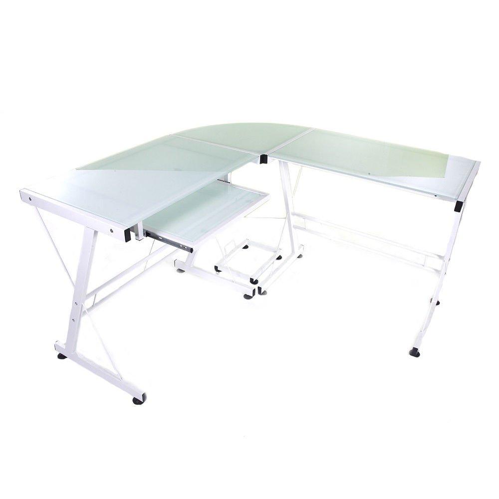Estación de trabajo portátil mesa de cristal de escritorio de ...