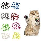 LPxdywlk 20Pcs Plástico Gatos Coloridos Tapas de uñas Paw Claw Protector Cubierta con Pegamento Mascotas Juguete White S