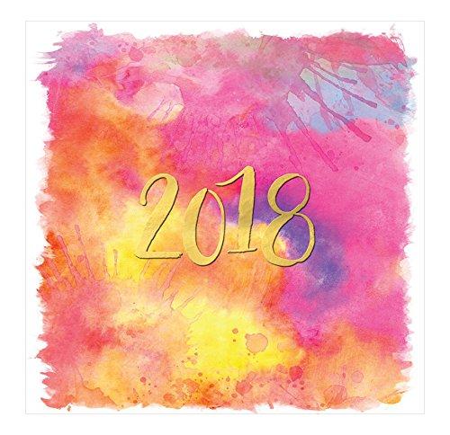 Orange Circle Studio 2018 Wall Calendar, Aquarelle