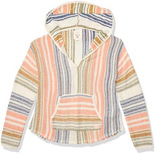 Billabong Mädchen Baja Cove Hoodie Sweater Pullover, weiße Kappe, Large