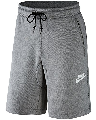 Nike M NSW AV15 Short FLC Kurze Hose für Herren, Grau (Dk Grey Heather/Black/Black/White), S