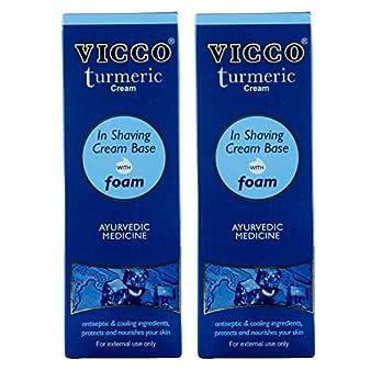 VICCO Turmeric Cream In Shaving Cream Base with foam-70g (Pack of 2)