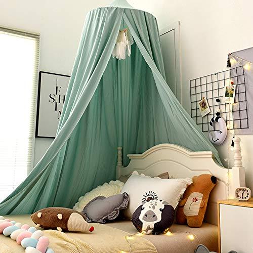Betthimmel Baldachin f/ür Kinderzimmer Bettvorhang Babyzimmer Deko Spiel Zelt Schlafzimmer Moskitonetz f/ür Kinderbett Lake Gr/ün H/öhe:2.5M
