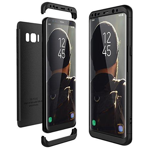 CE-Link Funda Samsung Galaxy S8 Plus   S8 Carcasa Fundas para Samsung Galaxy S8 Plus   S8+, 3 en 1 Desmontable Ultra-Delgado Anti-Arañazos Case Protectora - Negro