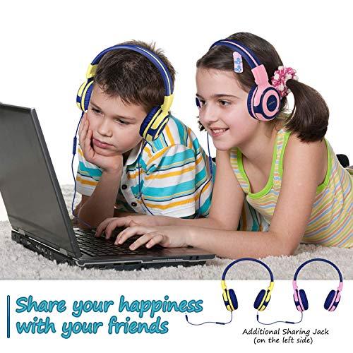 SIMOLIO Kids Headphones with 94dB,85dB,75dB Volume Limited