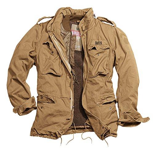 Trooper M65 Regiment Jacke, beige, Size L + UD Thinsulate Beanie