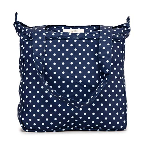 JuJuBe Be Light Tote Bag | Lightweight, Foldable Shoulder Bag with Multiple Pockets | Travel-Friendly Everyday Casual Purse or Diaper Bag | Navy Duchess
