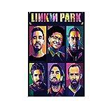 NENBN Linkin Park Farbiges Leinwand-Poster und
