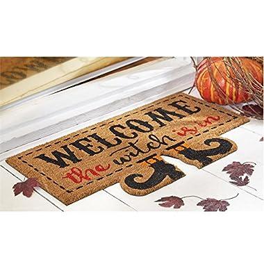 Mud Pie Halloween Home Garden Decor Floor Door Mat Witch Is In