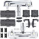 W10712394 Dishwasher Upper Rack Adjuster Kit with W10508950 Dish Rack Stop Clip Compatible with Whirlpool Dishwasher Replace PS10064063 AP5956100 WPW10350376 PS10064063 WPW10508950(18 Packs)