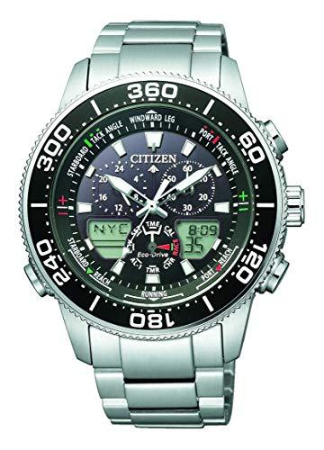 Citizen Herren Analog – Digital Quarz Uhr mit Edelstahl Armband JR4060-88E