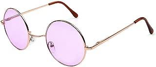 KINDOYO Retro Round Sunglasses Circle Vintage Goggles UV400 for Men & Women