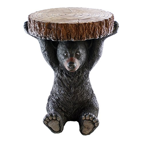 Pine Ridge Black Bear Table - 24' Tall Beautifully Hand-Painted and Crafted Life-Like Intricate Bear Polyresin for Nature and Wildlife Lovers, Hunters and Outdoorsman - Great for Arts and Crafts