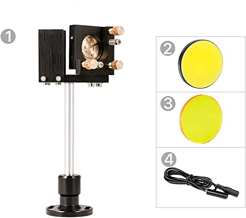wholesale Cloudray E Series First Mirror Mount with Beam Combiner Base & D25mm Si Mirror 1 Pcs & D25mm Beam Combiner 1 Pcs & D10mm Red Pointer sale for CO2 2021 Laser Cutter DIY online
