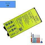E-yiviil BL-42D1F - Batería de repuesto de ion de litio compatible con LG G5 G5 Lite H820 H830 LS992 VS987 con herramientas de instalación