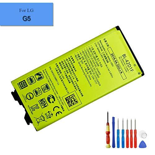 E-yiiviil BL-42D1F - Batería de ion de litio compatible con LG G5 G5 Lite H820 H830 LS992 VS987 con herramientas de instalación