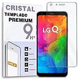 REY Protector de Pantalla para LG Q7, LG Q7 Plus, LG Q7α, Cristal Vidrio Templado Premium