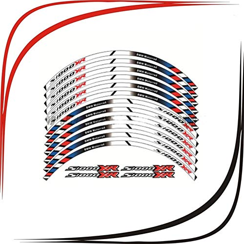 2 Color para BMW S1000XR Motocicleta Motorbike S1000XR Calcomanías de la rueda Pegatinas reflectantes Rim Stripes (Color : TP 03)