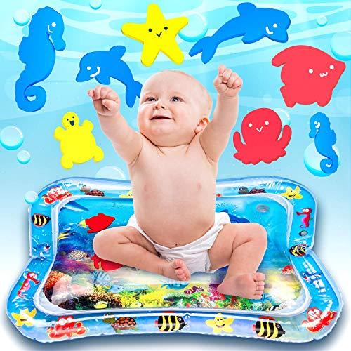 Ventvinal Tappetino per Bambini d'Acqua Gonfiabile per neonati e bambini piccoli Tappetino per Il Tempo del Tummy Piccoli Centro di Attività per i Neonati Giocattoli Divertenti (26x20inch)