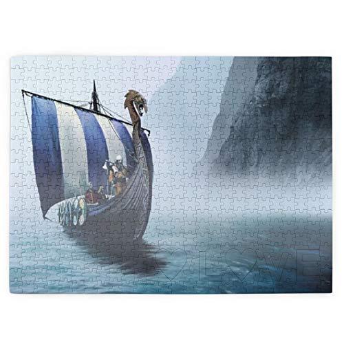 Custom made Wikingerschiff-Puzzles für Erwachsene und Kinder, großes Puzzle, geistiges Lernspiel, schwierig und herausfordernd, 520 Teile