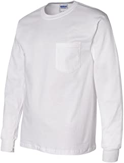 Ultra Cotton Long Sleeve T-Shirt with a Pocket - 2410