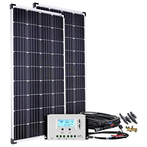 Offgridtec Solaranlage basicPremium-XL 300W 45A LCD Laderegler Profi Kabelkit